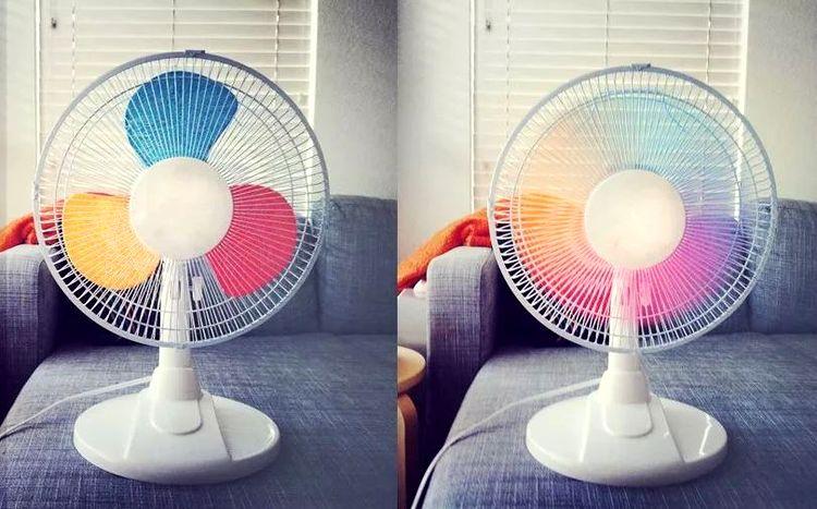 Как сделать цветной вентилятор